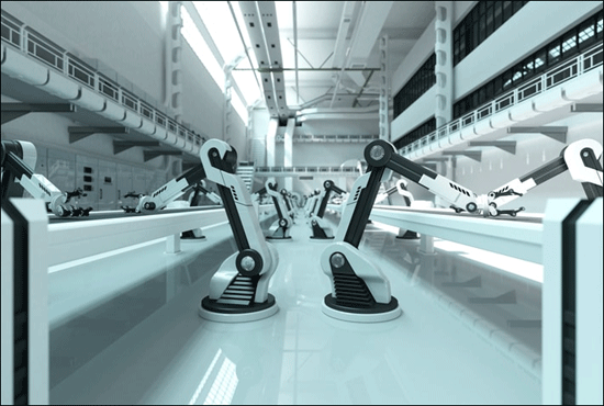 Robotics Arms in Manufacturing facility