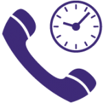 Phone and clock icon